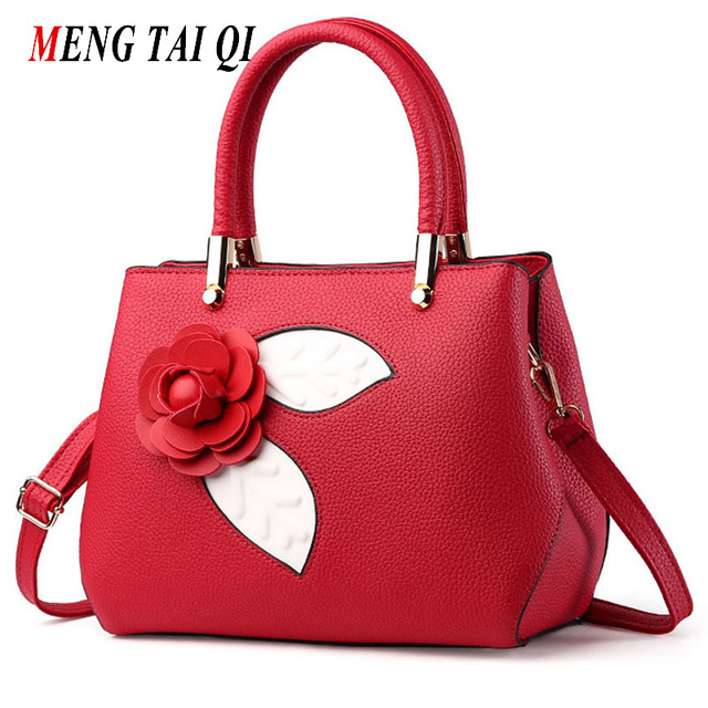 Retro Shoulder Bags Women Leather Handbags Women Messenger Bags With floral Luxury Brand Ladies Designer Hand Bags For Women 4