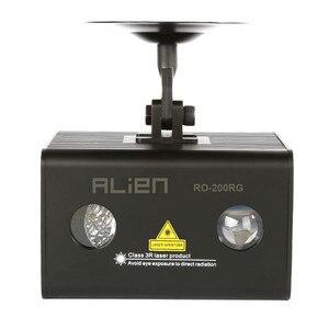 Лазерный проектор ALIEN с дистанционным управлением, RG, Aurora, сценический эффект, RGB LED, водяная волна, для вечеринок, танцев, диско, диджеев, для рождественских праздников