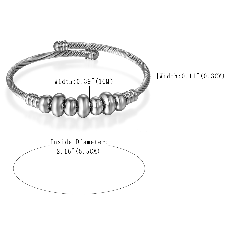 57ed19dc24 Aliexpress.com : Buy BONISKISS Silver Stainless Steel Bracelets For Women  Lady's Beauty Jewelry Cuff Bangle & Bracelet Female Gold Bijoux Party Dress  from ...