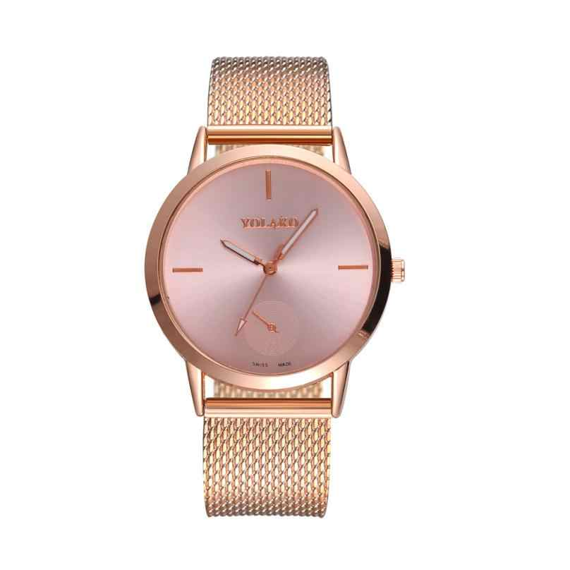 Montre Espejo de cristal de alta dureza de Moda Correa de malla reloj hombres y mujeres générale À La Mode livraison directe 18jul13