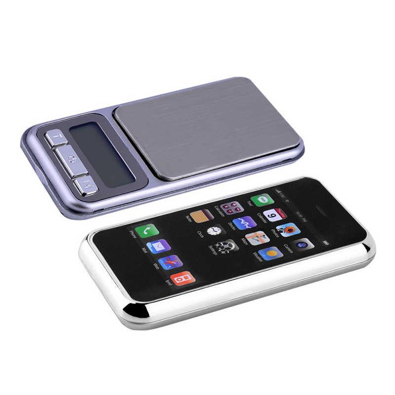 Junejour numérique Mini balance de poche 100/200/500g LCD rétro-éclairage balance électronique avec plate-forme de pesage en acier inoxydable