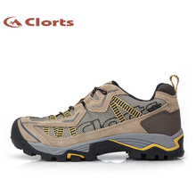 Clorts Hiking Waterproof Shoes for Men Suede Leather Trecking Shoes Wearable Mens Hiking Shoes 3D026A/C