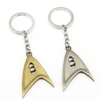 5 Pcs Lot Classic Movie Star Trek Logo Keychain Science Engineering Medical Model Metal Key Chain