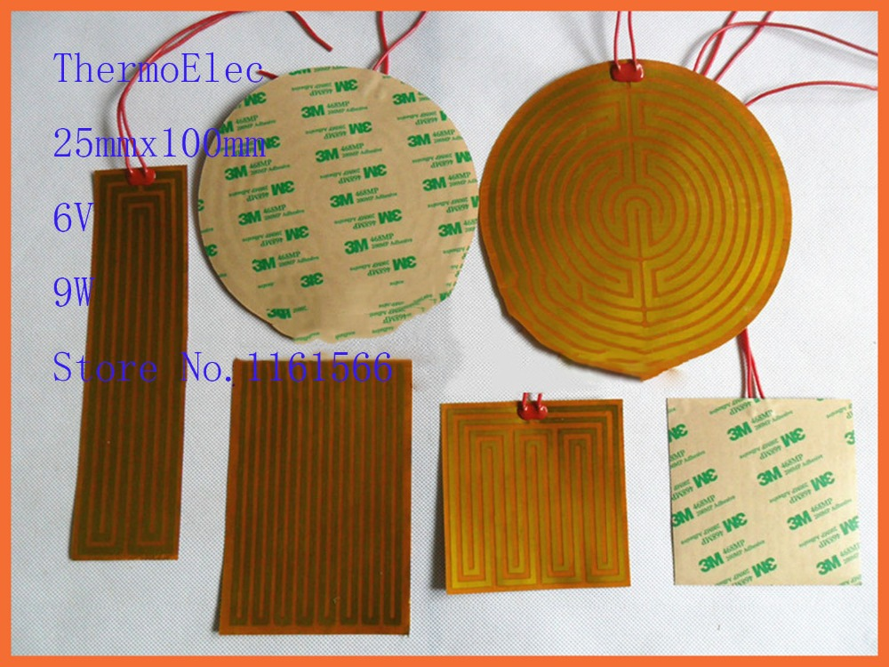 25mmx100mm 6V 9W element heating PI film polyimide heater heat rubber electric Heating element for removing frost flexible mat 70mmx107mm 24v 22w element heating 3d print pi film polyimide heater heat rubber electric scientific analysis instrument mat
