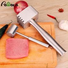 Двухсторонний инструмент для размягчения мяса из нержавеющей стали, молоток для мяса, отбойные машины, молоток, игла, молоток, кухонные инструменты