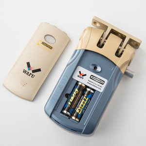 Image 5 - Беспроводной БЕСКЛЮЧЕВОЙ входной электронный удаленный дверной замок Wafu 433 МГц, невидимый интеллектуальный замок с 4 дистанционными ключами Wafu010