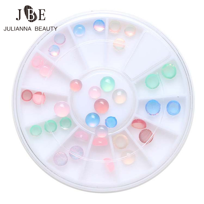 36Pcs / box мысықтар Eye Stone Jelly Resin Drill FlatBack - Маникюр - фото 3