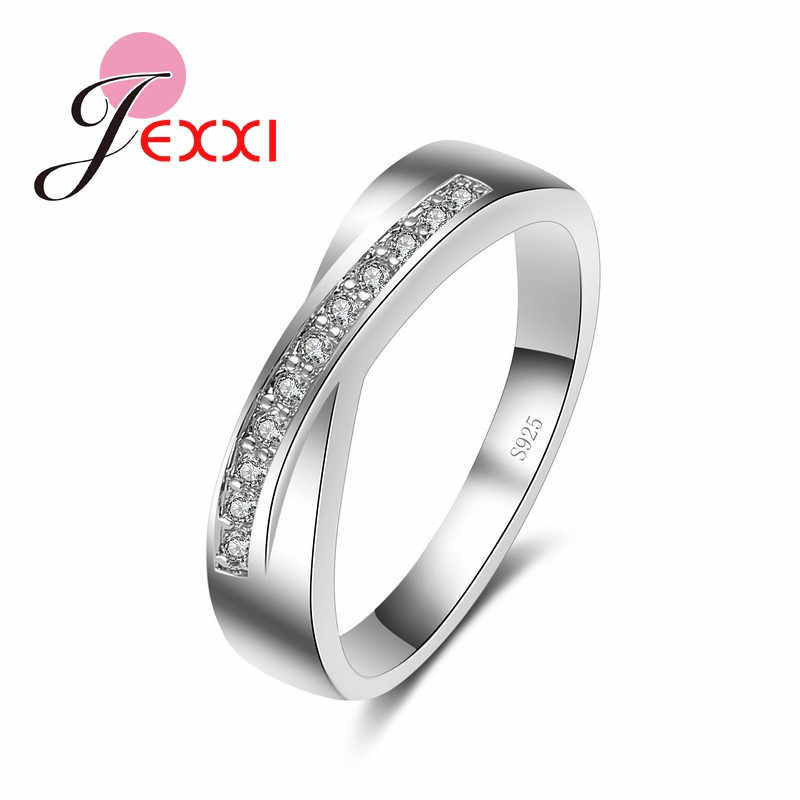 Classical High Quality Vintage CZ Engagement Rings For Women Fashion Band Jewelry 925 Sterling Silver Wedding Ring Bijoux Femme
