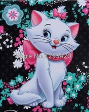 cartoon full square diamond embroidery kit pattern painting lovely cat mosaic picture resin rhinestones