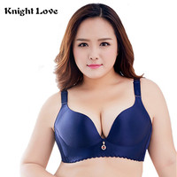 Push Up Bras Unlined Wire Free Big Size Bras No Rims Seamless Brassiere For Plus Size Womens Underwear C D E Cups 44 46 48 50