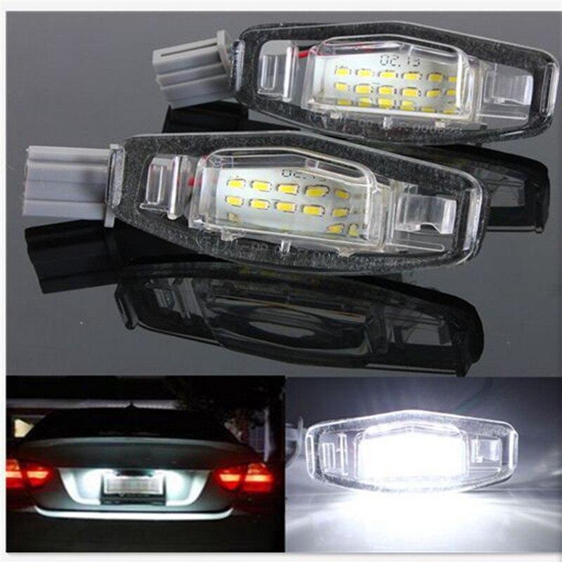2 unids 18 LED Marcos de matrícula luces lámpara para Honda/Accord ...
