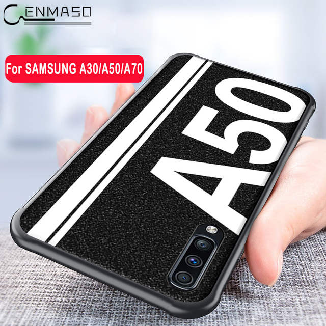 Samsung Galaxy A30 A50 A70 Luxury Leather Silicone Soft Edge Protection Back Case Cover