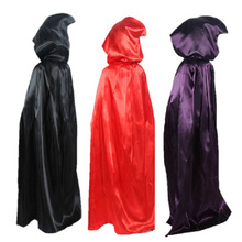 Fancy Dress Cloak Hooded Robe Witch Wicca Cape Party-Carnaval Vampires Gothic Halloween-Costumes