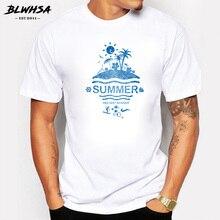 BLWHSA New Arrivals 2017 Summer Holiday Banner Design T Shirt Summer Men/Boy Custom T-Shirt High Quality Male Fitness Tee Tops