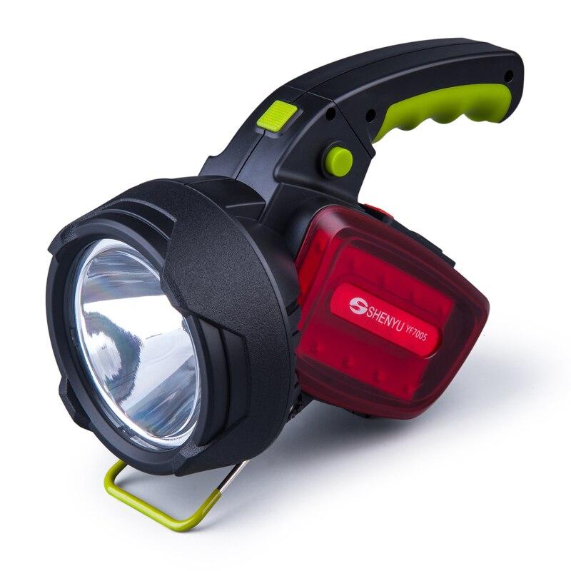 SHENYU Esterna Luminosa Eccellente Portatile Tenuto in mano USB Torcia Elettrica Ricaricabile Della Torcia Lampada Faro Multi-funzione Campi Lunghi