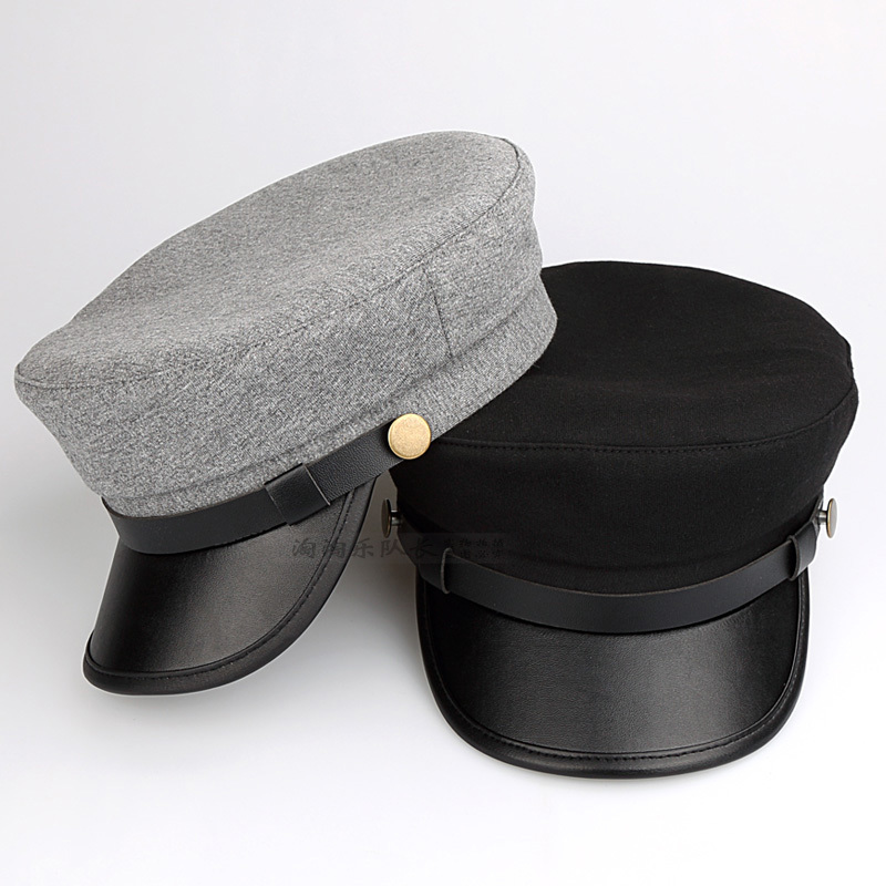 Wholesale Adult Casual Fitted Flat Peaked   Caps   Women Fashion Navy Hats Men Cool Solid Color   Baseball     Cap   Army Headwear