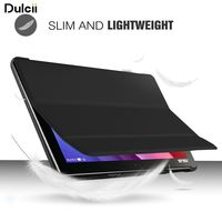 Dulcii capa coque Para ASUS ZenPad 10 (Z301ML) Caso Tri-fold Fique PU LEATHER Inteligente Shell-preto