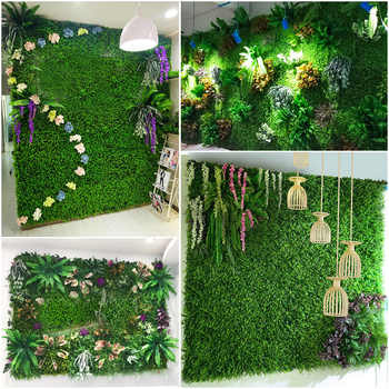 Green Plant Wall Artificial Lawn Boxwood Hedge Garden Backyard Home Backdrop Decor Simulation Milan Grass Outdoor Flower Wall - DISCOUNT ITEM  8% OFF All Category