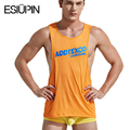 Fitness Clothing Men's Fashion Sexy vest sleeve bodybuilding tank tops men Singlet High quality wear Undershirt