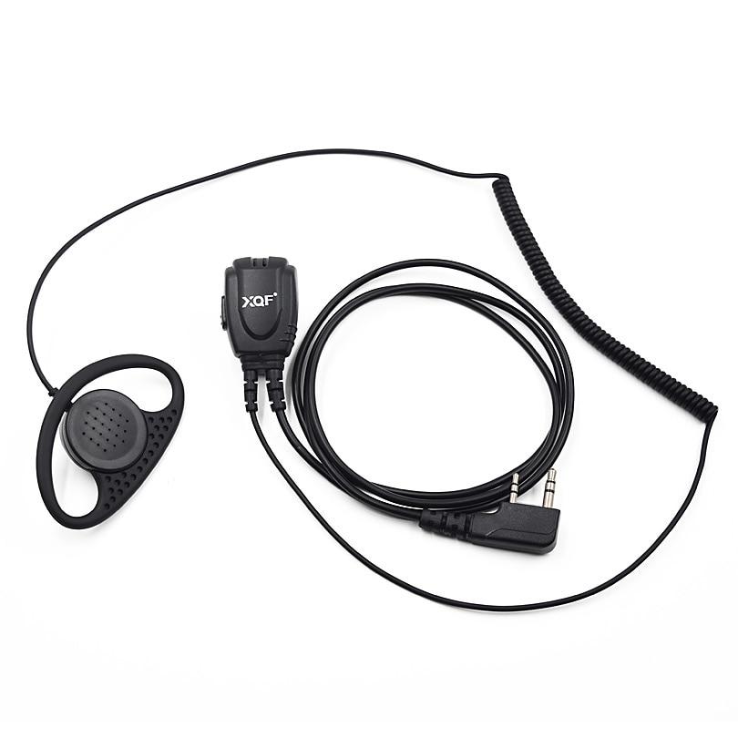10pcs xqf d type coilded wire earhook earpiece headset ptt mic for kenwood baofeng ham radio uv