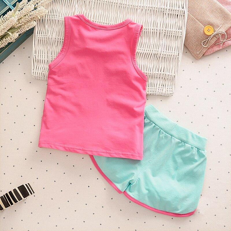 2pcs / lot vaikai mados kūdikių mergaičių drabužių rinkinys - Kūdikių drabužiai - Nuotrauka 2