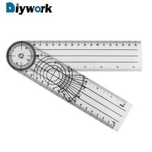 DIYWORK 360 Grad Rotation Multifunktions Goniometer Winkel Medizinische Spinal Herrscher Messung Werkzeug Goniometer Protractors