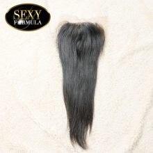 Lace Closure Brazilian Virgin Hair Straight  Free Shipping Soft 4×4 30g Knots Not Bleached Human  Hair Ms lula Hair