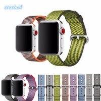 Woven Nylon Strap Band For Iwatch Apple Watch 2 1 42mm 38mm Sport Bracelet 20mm 22mm