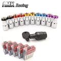 AMK racing-Nuevo 20 unids compite con las tuercas de bloqueo + 1 seguridad clave por juego racing wheel nuts (Rojo Azul Negro Oro Púrpura) P1.5