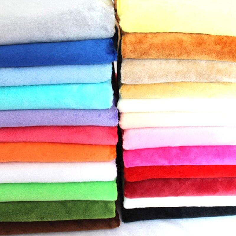 50cm*160cm Short plush crystal super soft plush fabric For Sewing DIY Handmade Home Textile Cloth For Toys Plush Fabric(China)