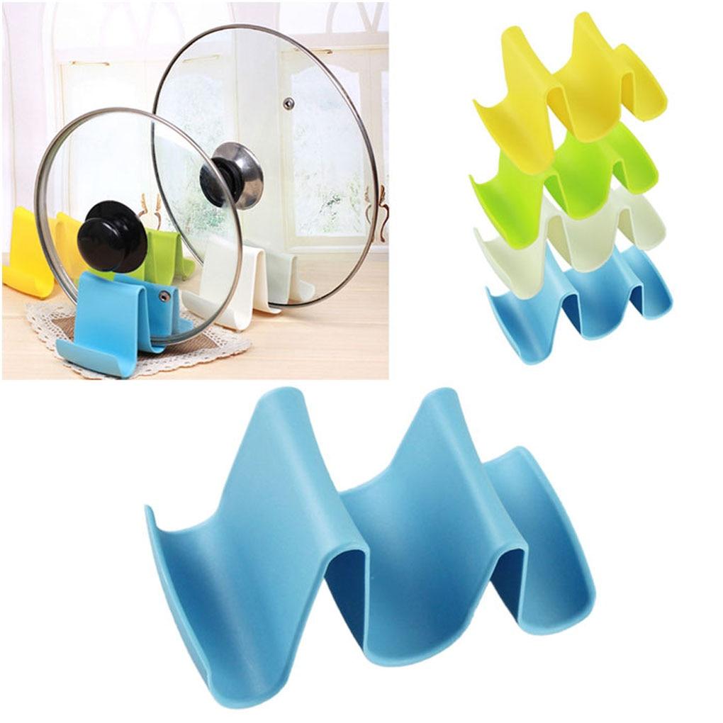 Practical kitchen storage design Plastic Pot Pan Spoon Lid Storage ...