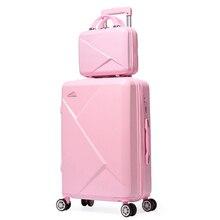 2 шт./компл. 14 дюймов косметички 20/22/24/26 дюймов для девушек-студенток от чемодан на колёсиках для путешествий Спиннер чемодан для багажа на колесиках чемодан