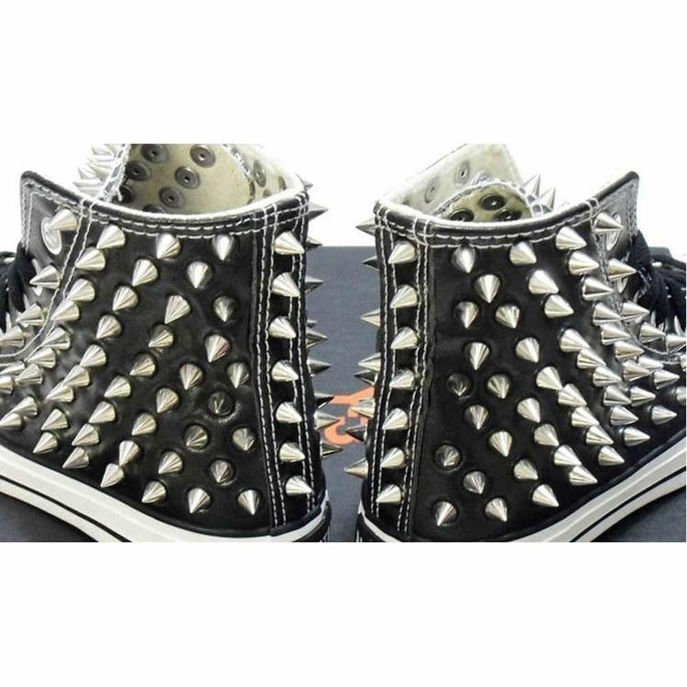 الفضة المسامير مخروط شكل المسامير Screwback ترصيع DIY الحرفية فاسق نمط أحذية من الجلد حقيبة سوار السريع ترصيع