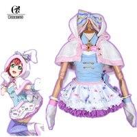 ROLECOS Аниме Любовь жить солнце Косплэй костюм Ruby Kurosawa кролика платье горничной Косплэй костюм животного Косплэй форма