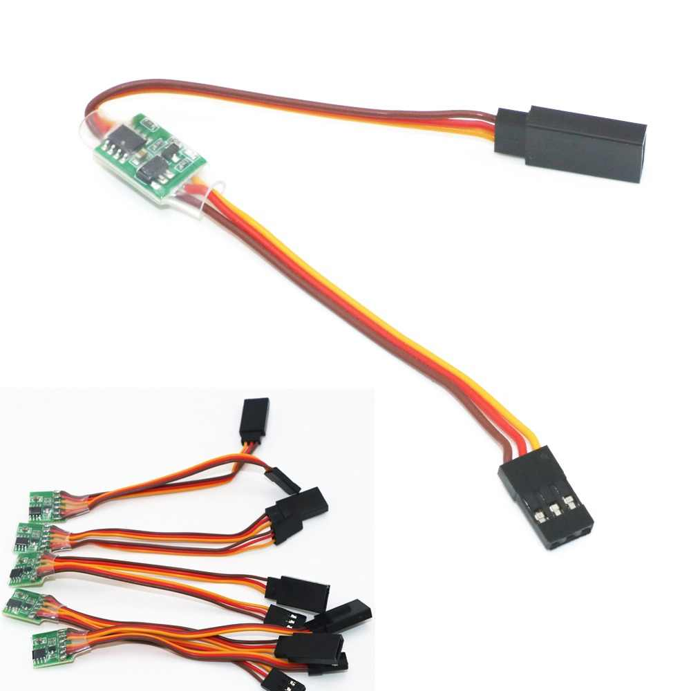 5pcs/lot Universal 5~6V / 3.6V~24V Servo Signal Reverser For Rc Servo For JR Futaba Aeroplane V-Tail