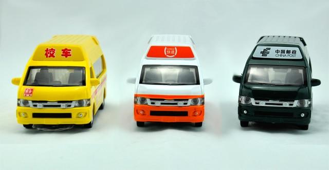 Freeshipping  1:32  Van series pull back acousto-optic toys model cars