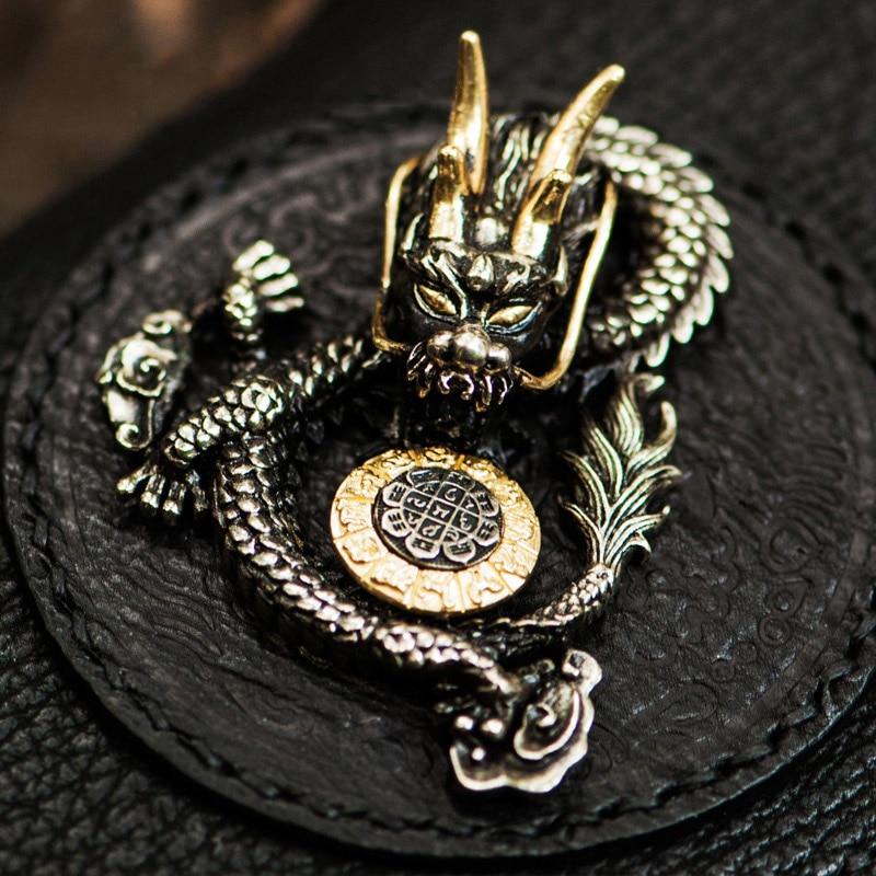 Tibétain Main Luxe À De Requin Magique Femmes Black Portefeuilles Dragon Portefeuille D'or Soleil Sac Roue Hommes Et D'embrayage Mystère Tenant rPTgra