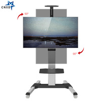 CNXD Movable TV Trolley Stand Mobile Floor TV Carts Monitor Stand Fit for 32 65 TV Max Support 80KG Weight