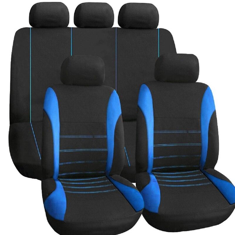 GNUPME Auto Sitzbezüge Vollen Satz Automobil Sitz Schutz Abdeckung Fahrzeug Sitzbezüge Universal Auto Zubehör Auto-Styling Schwarz