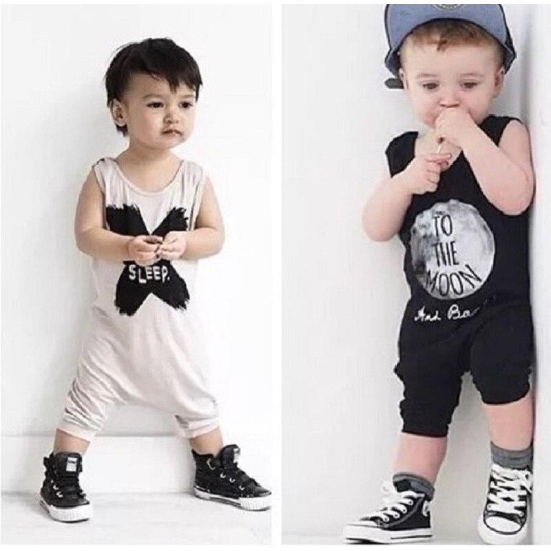 Hooyi Summer Baby Romper Shortall 100% Cotton Infant Jumpsuit No Sleep Moon Babies Bebe Roupas Newborn Fashion One-Piece Clothes