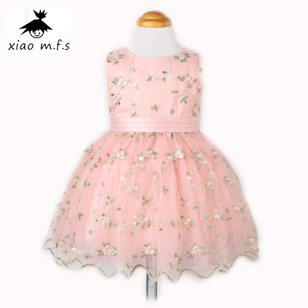 2017 brand girls dress flower kids Embroidery princess dresses toddler clothing for party and wedding for baby girl clothes new fashion embroidery flower big girls princess dress summer kids dresses for wedding and party baby girl lace dress cute bow