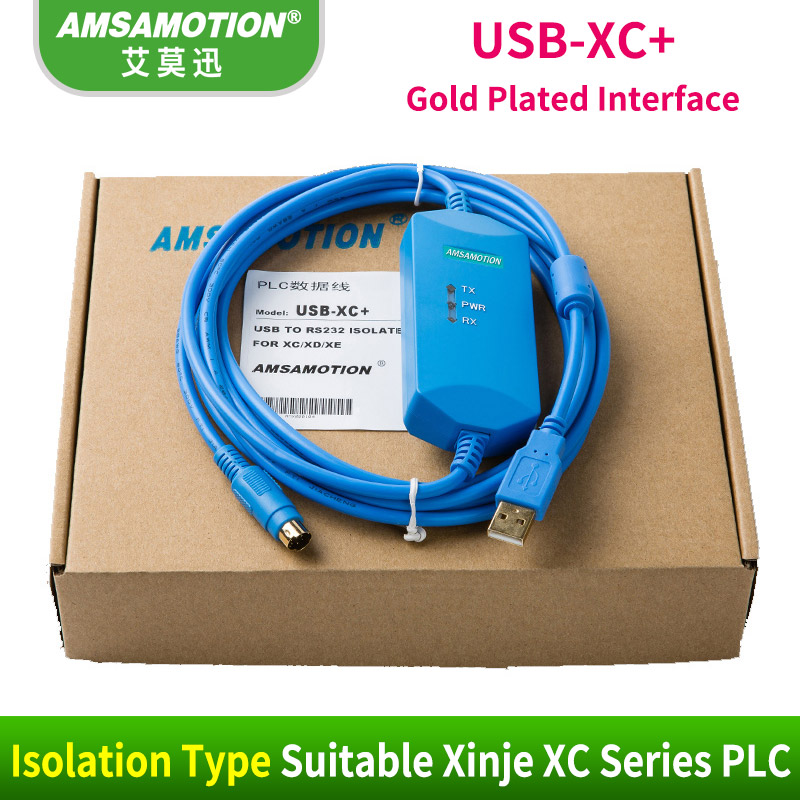 Suitable XC1/XC2/XC3/XC5 Xinje Communication Cable USB-XC+Isolation version data download cableSuitable XC1/XC2/XC3/XC5 Xinje Communication Cable USB-XC+Isolation version data download cable