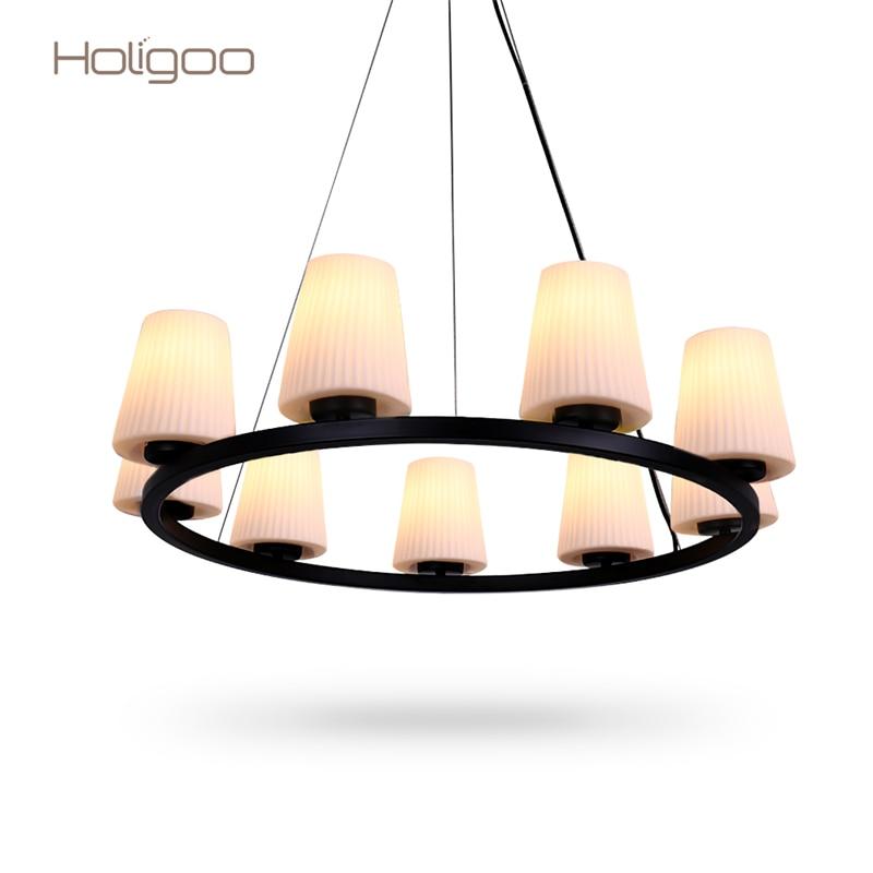Holigoo Quality New Fashion Novelty Led Pendant Lights 9 Bulb Holders Home Indoor Decoration Luminarias Modern Led Pendant Lamp