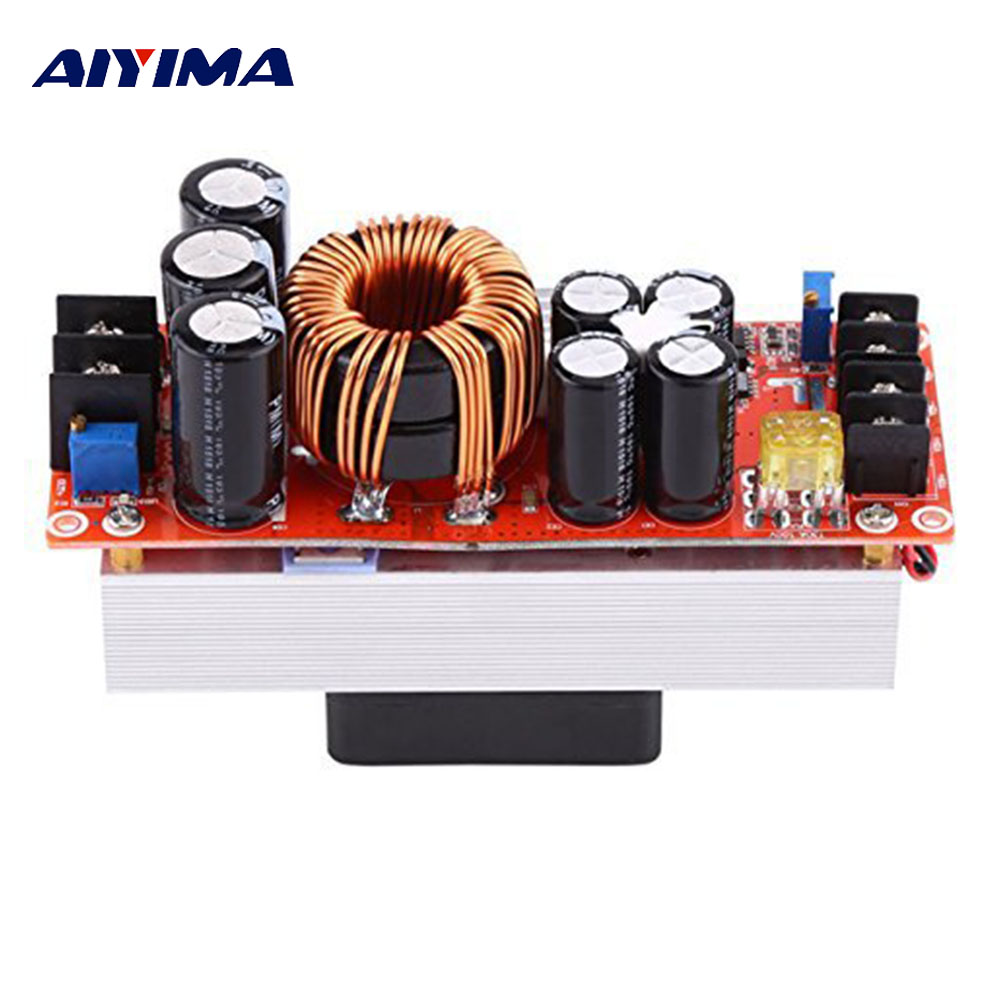 AIYIMA 1500W 30A DC-DC Boost Converter Step-up Power Supply Module 10~60v To 12~90v Electric Unit Modules Adjust Current VoltAIYIMA 1500W 30A DC-DC Boost Converter Step-up Power Supply Module 10~60v To 12~90v Electric Unit Modules Adjust Current Volt