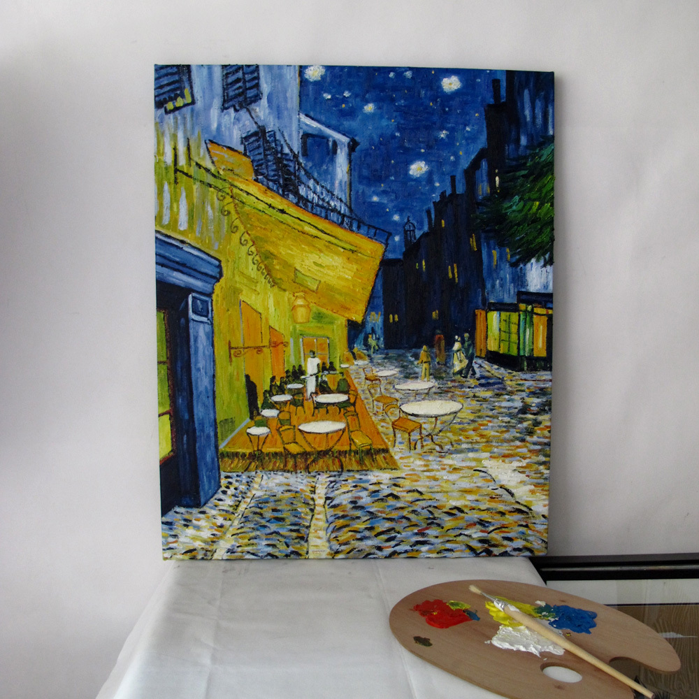 Pictura în ulei de Van Gogh (The Terrace Cafe on the Place du Forum, - Decoratiune interioara