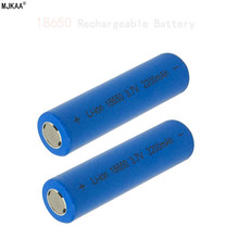 2 шт 18650 2200 mah 3,7 v литиевая батарея литий-ионная аккумуляторная батарея 18650 batteria плоские верхние батареи