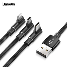 Baseus 90 Degree USB Cable For iPhone X 8 7 6 Charging Charg