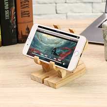 Pine Wood Phone and Tablet Holder with Reindeer Designs