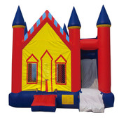 PVC commercial customized inflatable bouncer castle outdoor playground inflatable slide for kids