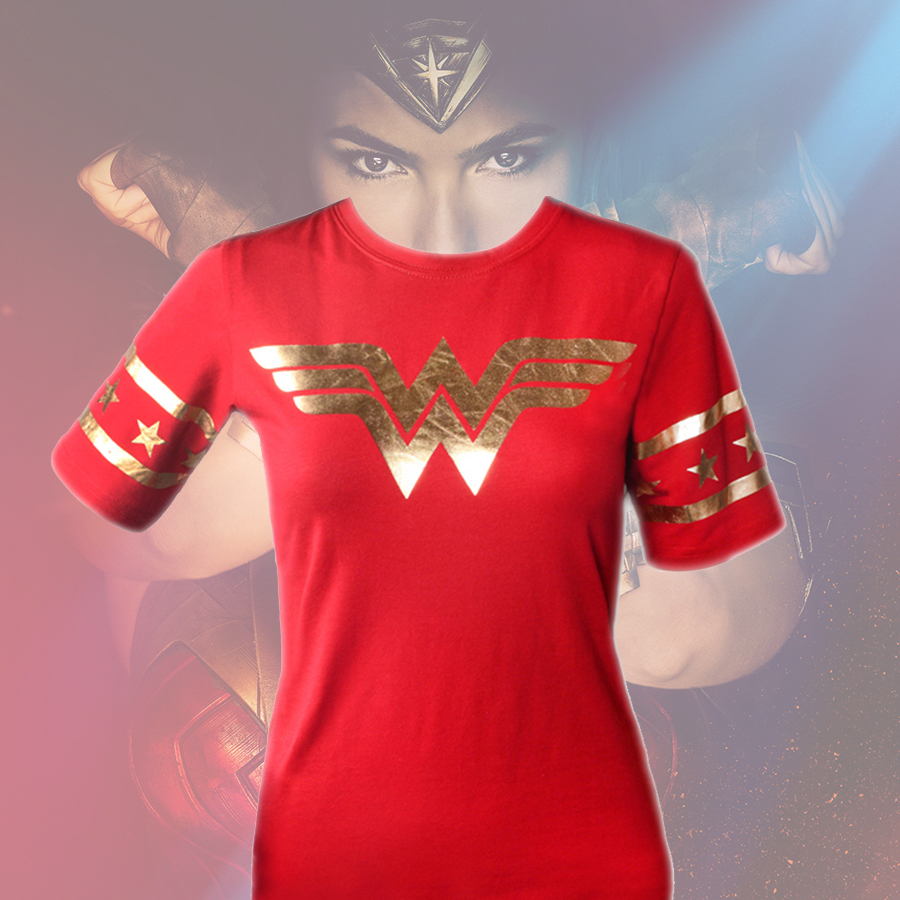 S M L XL XXL Wonder Woman Costume Women Tshirt Female DC Cartoon Film and TV Summer Cotton Short ...